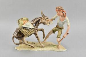 h11f19- Kaiser Porzellan Figur, Junge mit Esel