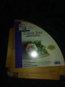 "Home Collection Honey Oak Finish 10""x10"" Corner Shelf NEW IN PACKAGING"