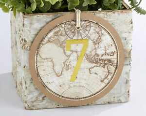 Travel Theme Gold Table Numbers Cards Wedding Party Reception 1-18 MW35523