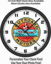 EVINRUDE OUTBOARD MOTORS LOGO WALL CLOCK-FREE USA SHIP!