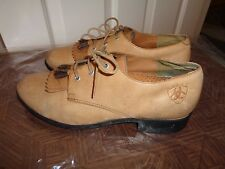 ARIAT GENUINE HORSETAIL TASSEL ANKLE BOOT OXFORDS SHOES GUESSTIMATE SZ 8.5