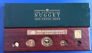 1989 Australia 5 Coin Proof 99.99 Gold Nugget Set 1.9 AGW  Great Gift