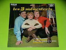 45 tours EP - LES 3 MENESTRELS - LES GARS DE LA MARINE -  1970 - DEDICACE