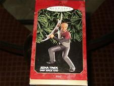 """STAR TREK"" Hallmark Keepsake Ornament ""Worf"" 1999 New/Boxed"