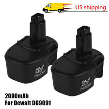 2Pack 14.4V NI-CD Battery for DEWALT 14.4 VOLT DC9091 DW9091 DW9094 Power Tools