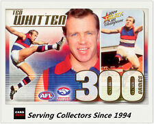 Select AFL 300 Game Case Card: 2009 Champions CC30 Ted Whitten (W. Bulldogs)