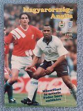 1999 - HUNGARY v ENGLAND PROGRAMME - FRIENDLY - V.G CONDITION