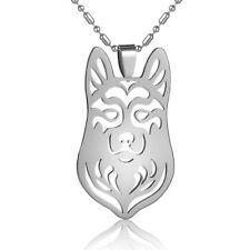 Alaskan Malamute Mal Mally Siberian Husky Stainless Steel Pet Dog Charm Pendant