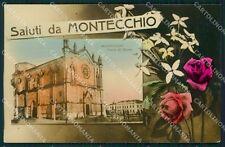 Vicenza Montecchio Maggiore Saluti da Foto cartolina QT2526