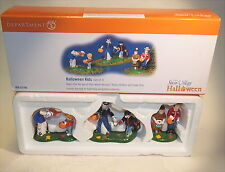 Dept 56 Halloween Snow Village Halloween Kids RETIRED 56.55186 3 PIECE SET 55186