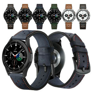 20mm Premium Genuine Leather Watch Band Strap For Samsung Galaxy Watch 4 Classic
