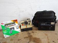Vintage Polaroid Land Camera Onestep w Carrying Case & Fuji Quick Snap Camera