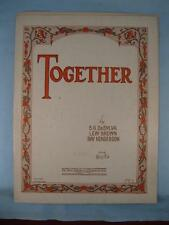 Together Sheet Music Vintage 1928 B G De Sylva Lew Brown Ray Henderson Voice (O)