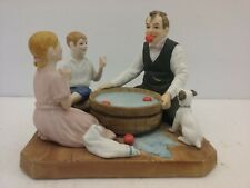 "Norman Rockwell ""Bobbing For Apples"" Figurine, Approx 5-1/2"" x 5"" x 4-1/2"" Tall"