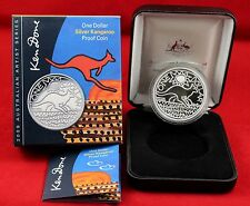 "2009  1oz , $ 1 Silver Kangaroo "" Proof coin ""  - Royal Australian Mint"