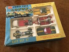 Vintage Corgi Toys / MIB / Lotus Racing / Gift Set No. 37