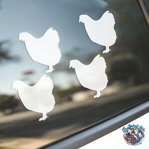 Wyandotte Chicken Sticker, Car Laptop Decal, Chickens Poultry Bird Silhouette