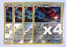 Pokemon, S&M Guardians Rising, X4 Talonflame 111/145, Reverse Holo, New, Mint