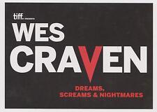Wes Craven TIFF Promotional Card Dreams Screams Hills Eyes Nightmare Horror Film