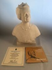Wedgwood Carrara Ware Oscar Nemon Bust HM Queen Elizabeth Queen Mother RARE! LE