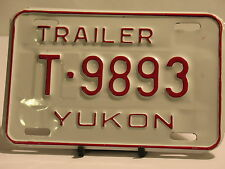 License Plate Trailer Yukon T 9893 New Truck Car Man Cave Garage New Old Stock
