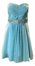Disney Junior's Size 3 Turquoise Blue Cinderella Collection Strapless Dress