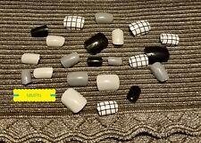 False Nail Tips Short Black/Gray Full Wrap Tips Assorted colors w/free gift