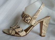 J.CREW womens sandals heels,size 10. snake print, leather