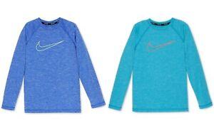 New Nike Big Boys Logo-Print Rash Guard Shirt Choose Size and Color MSRP $34