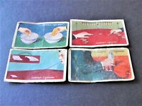 Vintage Set of (4) CIGARETTE CARDS- Gallaher, TRICKS AND PUZZLES Series.