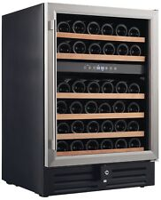 Smith & Hanks 46 Bottle Dual Zone Under Counter Wine Refrigerator, 24 Inch W