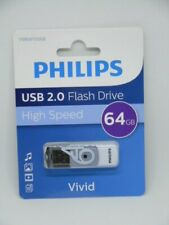 New Phillips VIVID 64GB High Speed USB 2.0 Flash Drive
