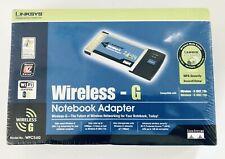 Linksys Wireless-G Notebook Adapter WPC54G New Sealed In Packaging