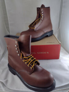"""Red Wing Shoes 2233 Supersole 8"""" Steel Toe Brown Leather Size 9.5 E2 Boots"""