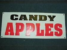 CANDY APPLES BANNER Sign NEW Larger Size for Shop Restaurant Pop Corn Carmel