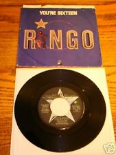 Ringo Starr You're Sixteen Original Picture Sleeve & 45