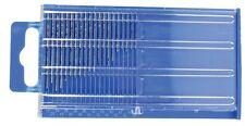 Set of 20pc Diamond Coated Micro Drill Bit Set Index 61-80 Grit 200