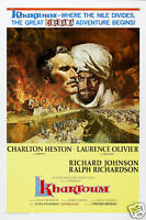 Khartoum Charlton Heston Vintage movie poster
