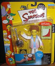 The Simpsons Interactive Figure Series 9 Disco Stu Nib Toy