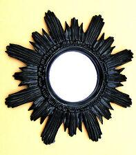 Wandspiegel Sonne Schwarz Spiegel Rund Retro 42cm Barock Antik Sun Mirror 103063
