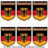 "GERMANY German Deutschland Shield 1.6""/40mm Mobile Phone Mini Stickers-Decals x6"