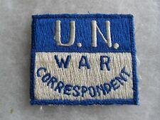 """KOREAN WAR JAPANESE/KOREAN EMB """"U.N. WAR CORRESPONDENT"""" PATCH"""