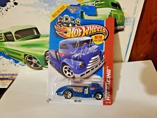HOT WHEELS MIG RIG  BLUE  AUTOGRAPHED CARD  LARRY WOOD