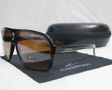 New Men Women Retro Sunglasses Fashion Unisex Glasses Black Frame Brown Lens+Box