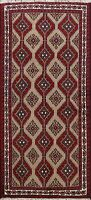 Tribal Geometric Balouch Hand-knotted Area Rug Nomad Oriental Foyer Carpet 3'x6'