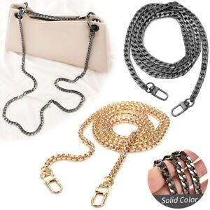 UK Flat Metal Replacement Chain for Shoulder Bag Handbag Strap Cross Body 120cm