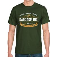 SARCASM INC. Sarkasmus Ironie Böse Evil Sprüche Spaß Lustig Comedy Fun T-Shirt