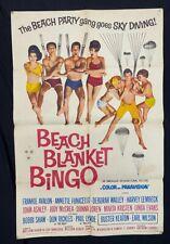 Beach Blanket Bingo One Sheet Movie Poster- 1965 -Annette- Frankie