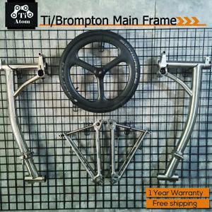 Ti Atom/Titanium Main Frame for Brompton Folding bike(Polished/Matte)