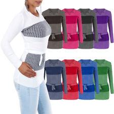 N543 Damen Pullover Winter Pullover Pulli Sweatshirt Strick Strickpullover Bluse